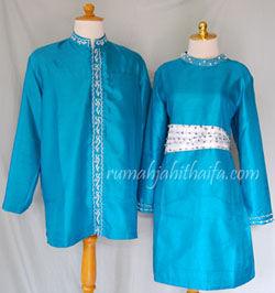 di Bontang. Ada 4 baju dan 3 celana stelan. 2 baju koko dan 2 blouse ...
