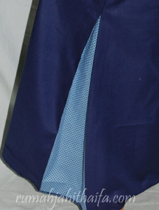 gamis biru detail samping
