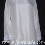 jahitan 2 blouse dari bahan Nepsilk pesanan Mba Lilis di JKT