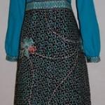 Jahitan gamis batik Ibu Dwi A di JKT