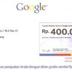 Voucher Beriklan Gratis di Google Adwords