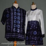 Sarimbit batik sasirangan dan blus batik Ibu Santi