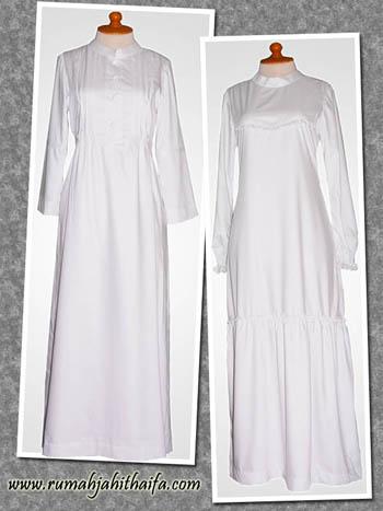 2 Gamis Putih Dari Katun Jepang Order Jahitan Dari Ibu Nelly Di