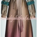 Gamis muslimah bahan sifone silk gradasi order jahitan Ibu Wati di Serpong