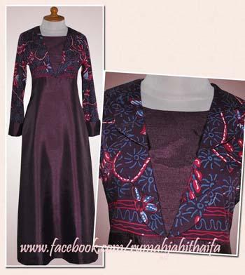 2 Gamis Batik Dari Selembar Batik Tulis Order Jahitan Ibu Yani Di