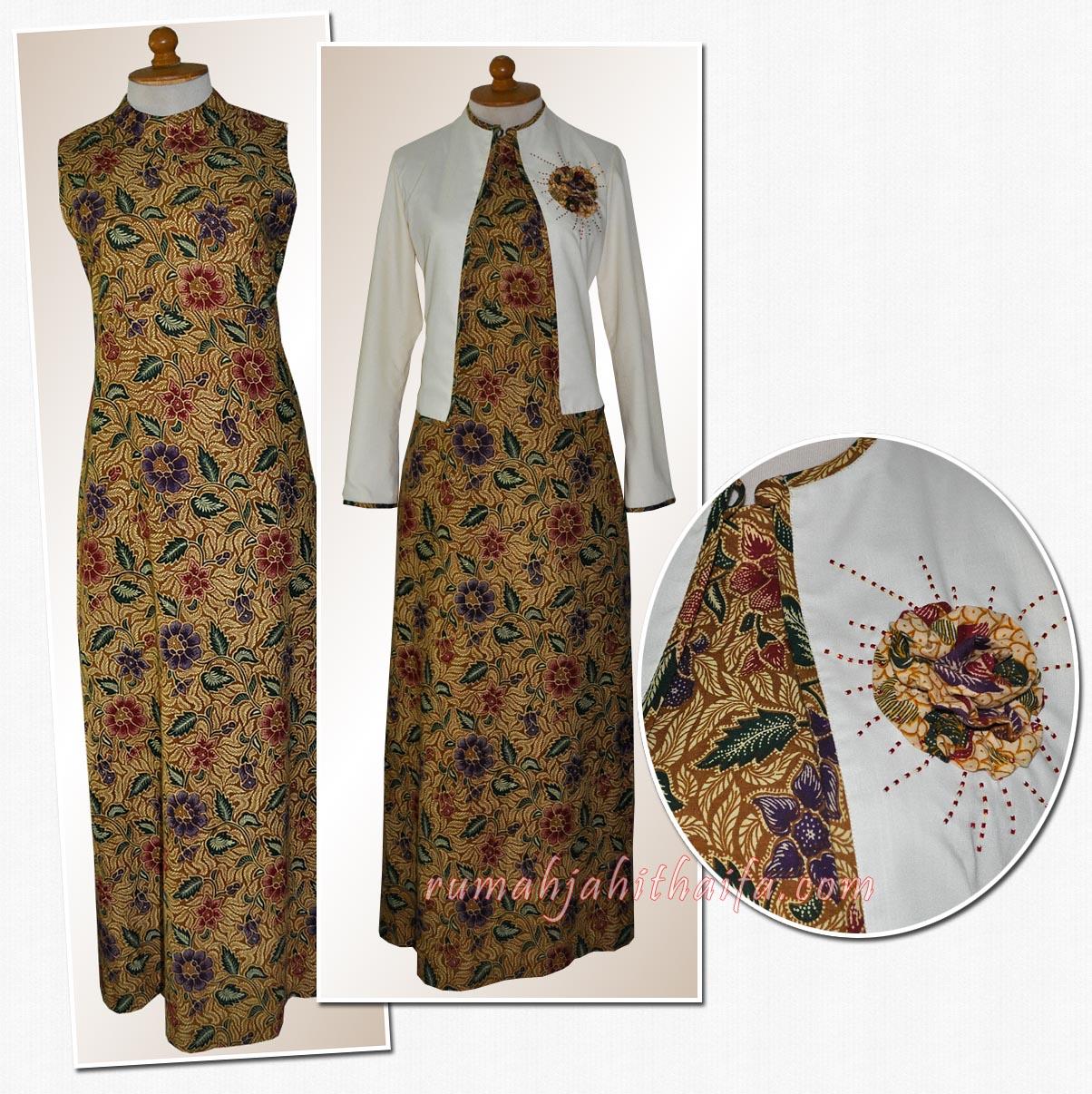 Blouse batik rumah jahit haifa Model baju gamis batik muslimah terbaru