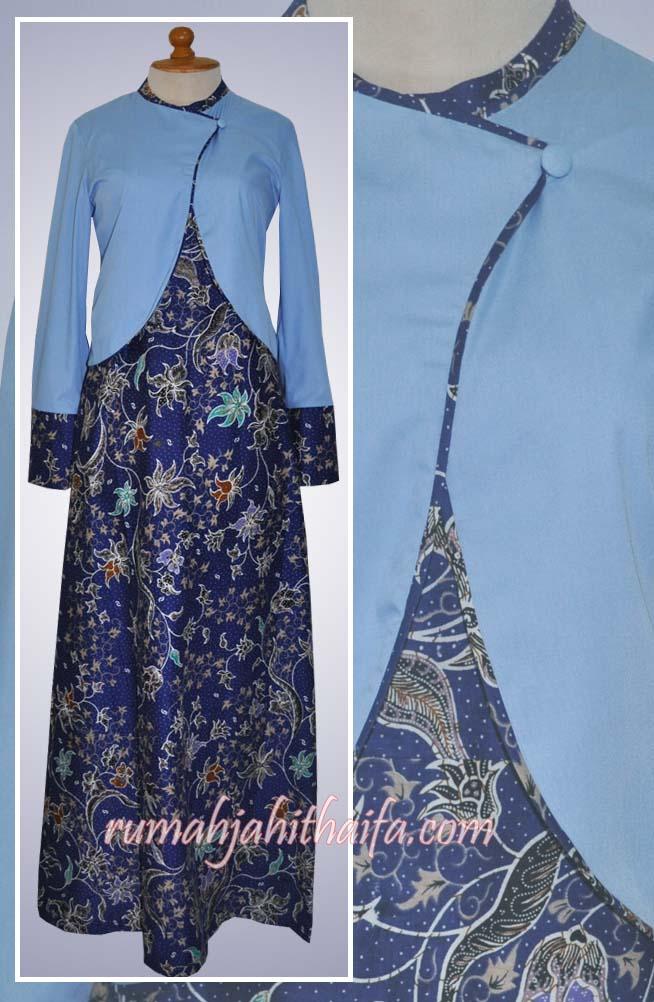 Model Baju Gamis Batik Kombinasi Terbaru Holidays Oo
