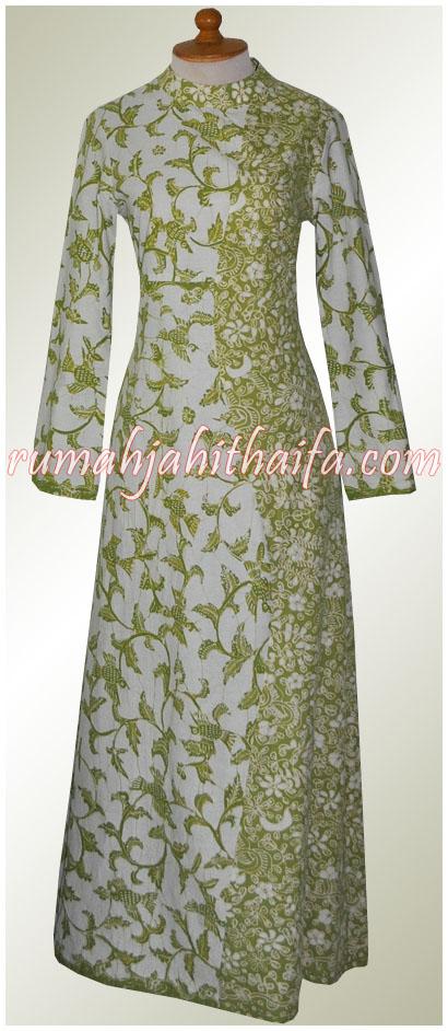 Trend Model Baju Gamis Batik Wanita Kombinasi Brokat - Holiday and ...