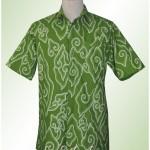 kemeja batik mega mendung hijau Ibu Nies