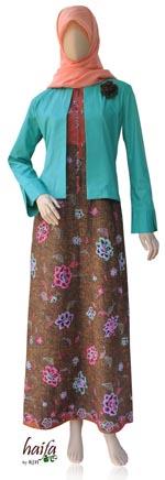 gamis batik plus bolero Haifa
