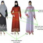 koleksi terbaru Gamis Muslimah Haifa dengan aksen dibawah dan ujung lengan