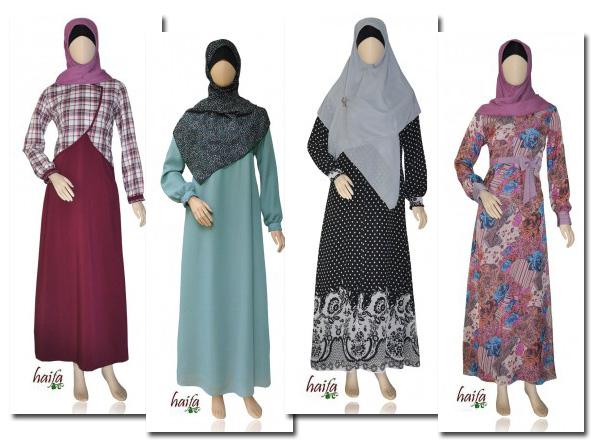 Koleksi Gamis Muslimah Haifa Terbaru Di Toko Online