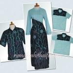 batik warna cerah tapi kalem ^_^ … jahitan sarimbit batik Ibu Kiki Zakiyah