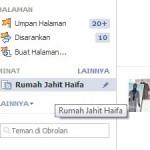 Rumah Jahit Haifa facebook page vanity URL