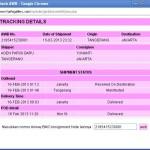 Cara track kiriman via JNE di web HaifaGallery.com