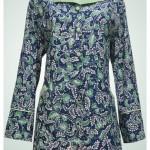 Gamis tenun dan blouse batik Ibu Umar