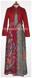 gamis batik bolero Ibu Listya 5