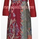 Gamis batik + bolero order jahitan Ibu Listya di Sragen