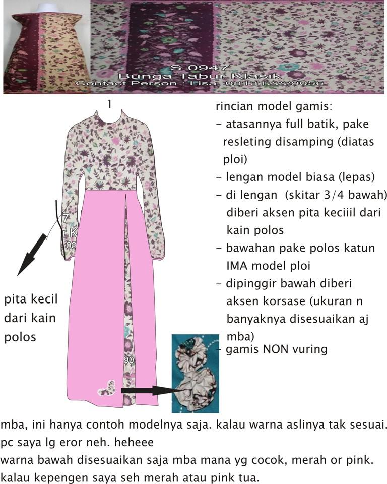 1 Kain Batik Untuk 2 Gamis Order Jahitan Ibu Nola Fk Rumah