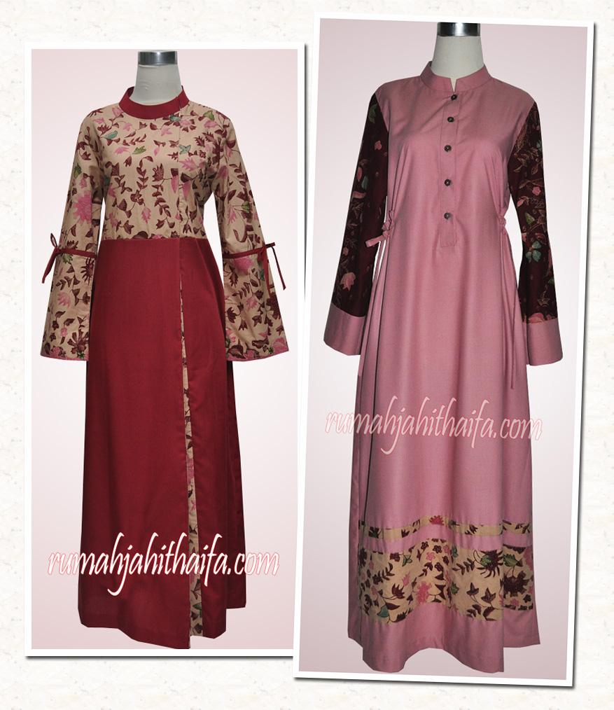 1 Kain Batik Untuk 2 Gamis Order Jahitan Ibu Nola Fk
