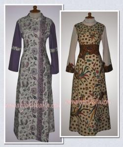 gamis tenun dan gamis batik Ibu Kiki Z | Rumah Jahit Haifa