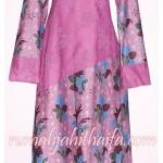 Gamis kombinasi brokat dan kain batik halus Ibu Naning di Surabaya