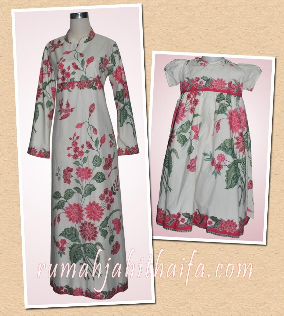 Gamis Batik Dan Dress Batik Anak Dari Kain Batik Encim Ibu