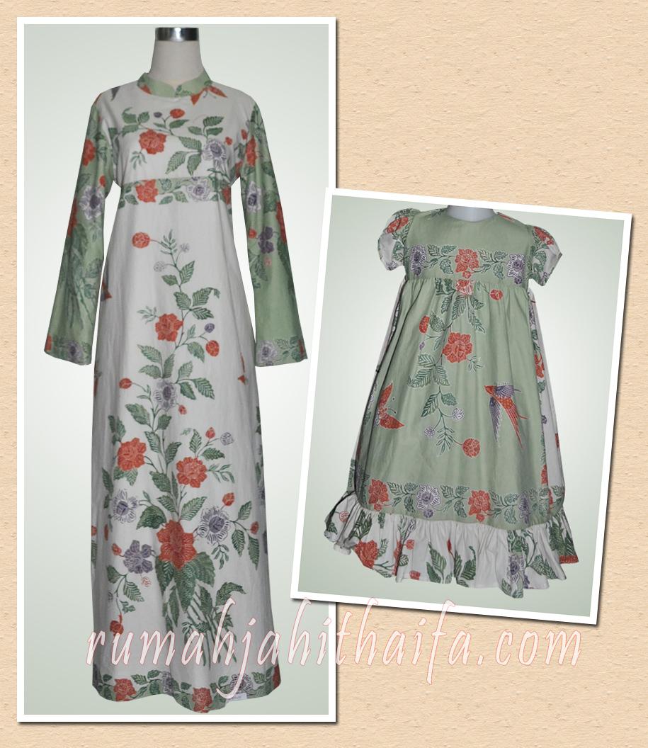 Gamis batik dan dress batik anak dari kain batik encim Ibu Mia Wibowo ...