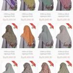 Jilbab segiempat motif terbaru Haifa