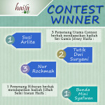 Pemenang Give Away Contest Haifa