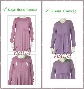 model-bukaan-gamis-jersey-haifa-terbaru