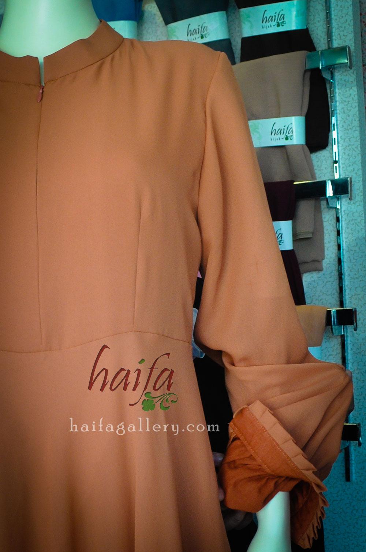 Detail Set Gamis Jumbo Haifa Dari Bahan Sifone Crep Rumah Jahit Kain Furing Asahi Lining