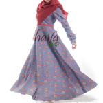 kain yang dibutuhkan untuk membuat gamis model klok seperti gamis haifa