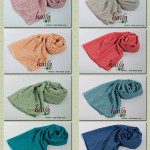 Hijab segiempat haifa polos dan motif, Now Available !