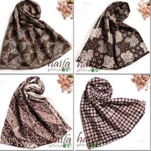 pilihan motif batik sogan asli untuk gamis haifa