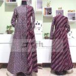Gamis batik order jahit ibu Dyah