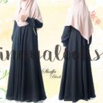 Inayalooks Shaffa Dress Black & Maroon -> back in stock !