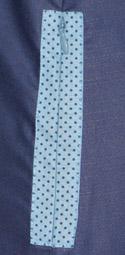 intan gamis biru detail kantong