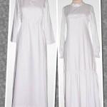 2 gamis putih dari katun jepang order jahitan dari Ibu Nelly di Palembang