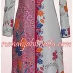 gamis batik motif tumpal sarung Ibu Listya di Sragen