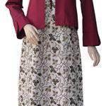 Gamis batik plus bolero koleksi Haifa, limited bgts ^^