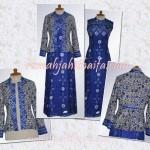 Order jahit gamis sasirangan+blazer batik Ibu Fina di Yogya