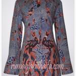 4 blouse batik order jahit Ibu Hera di Jakarta