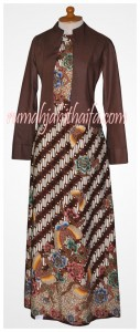 gamis batik bolero Ibu Listya 1
