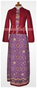 gamis batik bolero Ibu Listya 4