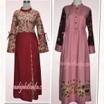 1 kain batik untuk 2 gamis, order jahitan Ibu Nola FK ^_^