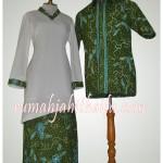 Jahit Sarimbit batik order dari ibu Melati di Sei Panas.