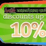 Diskon 10% untuk member Haifa -> langsung di haifagallery.com