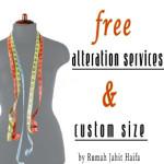 Ada layanan potong/vermak gratis di Haifa Gallery