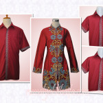 3 Blouse batik order jahit Ibu Sita di Ciledug